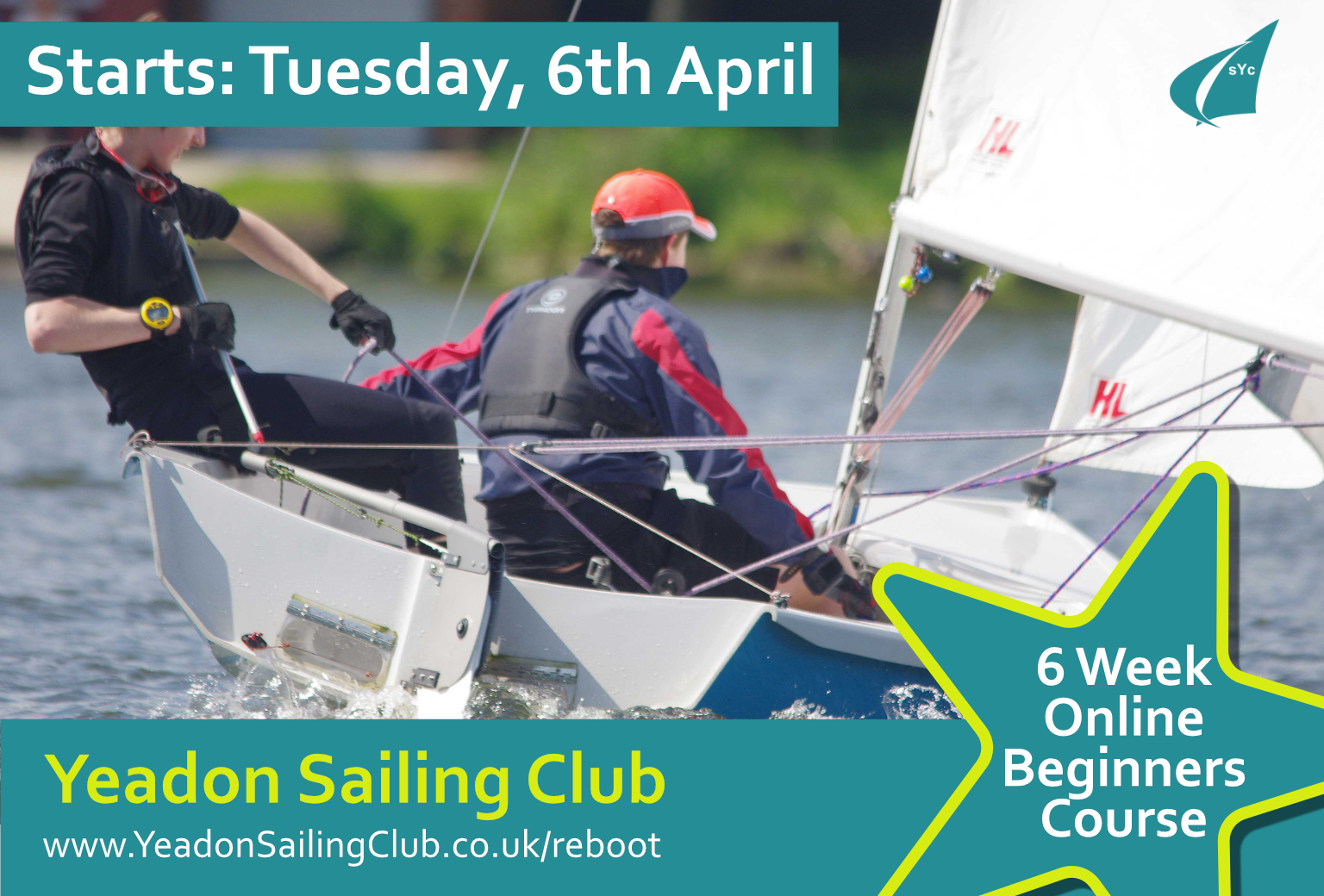 6 week sailing course starting 6th April 2021